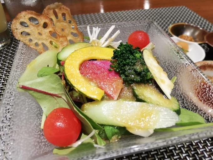神戸プレジールのフレッシュサラダ