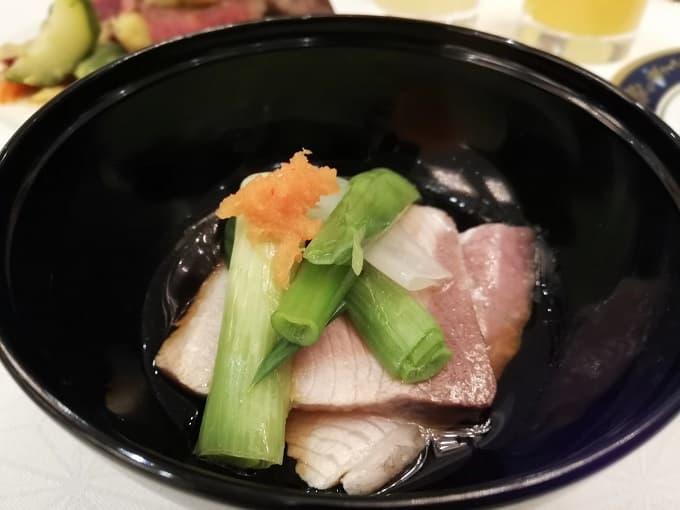リーガロイヤルホテル京都の新春ファミリービュッフェのブリのしゃぶしゃぶ