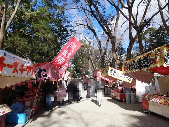 下鴨神社の初詣の屋台