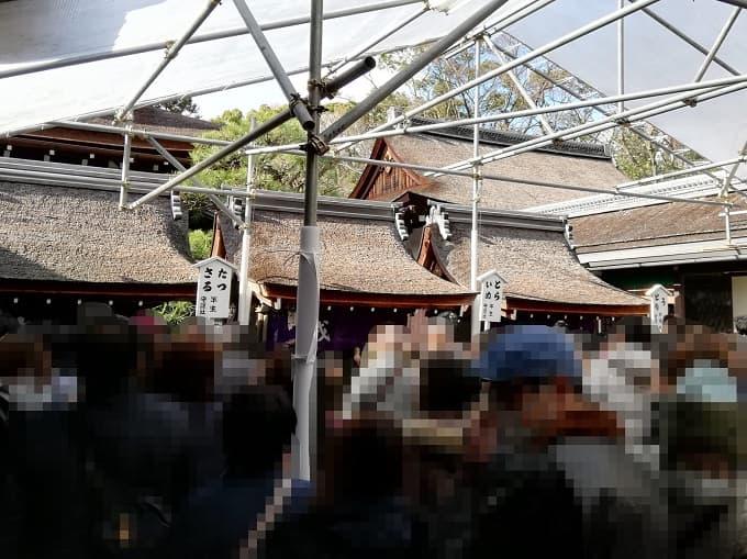 下鴨神社の初詣の干支の社の行列