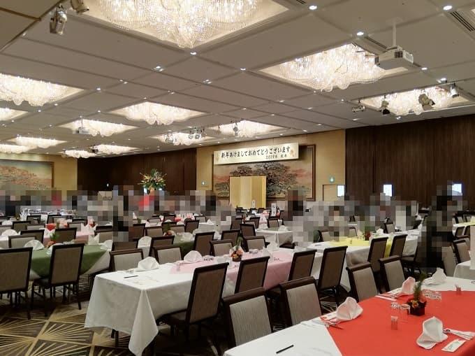 リーガロイヤルホテル京都の新春ファミリービュッフェの会場内の様子