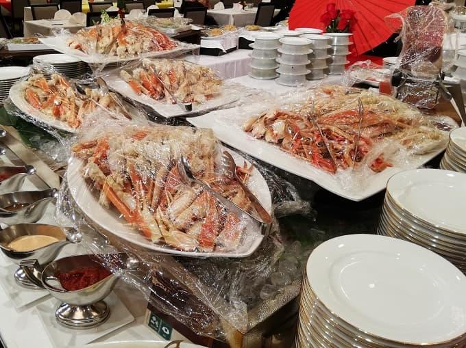 リーガロイヤルホテル京都の新春ファミリービュッフェのボイル ズワイ蟹