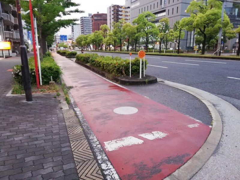 大阪の自転車専用レーン
