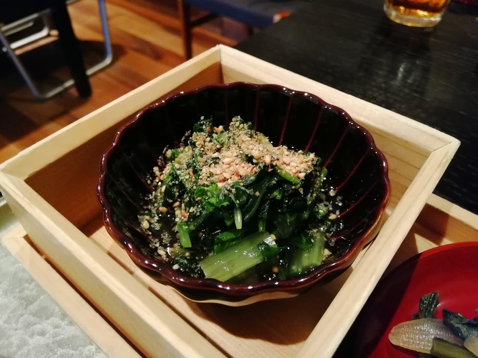 小松菜とほうれん草の和えもの