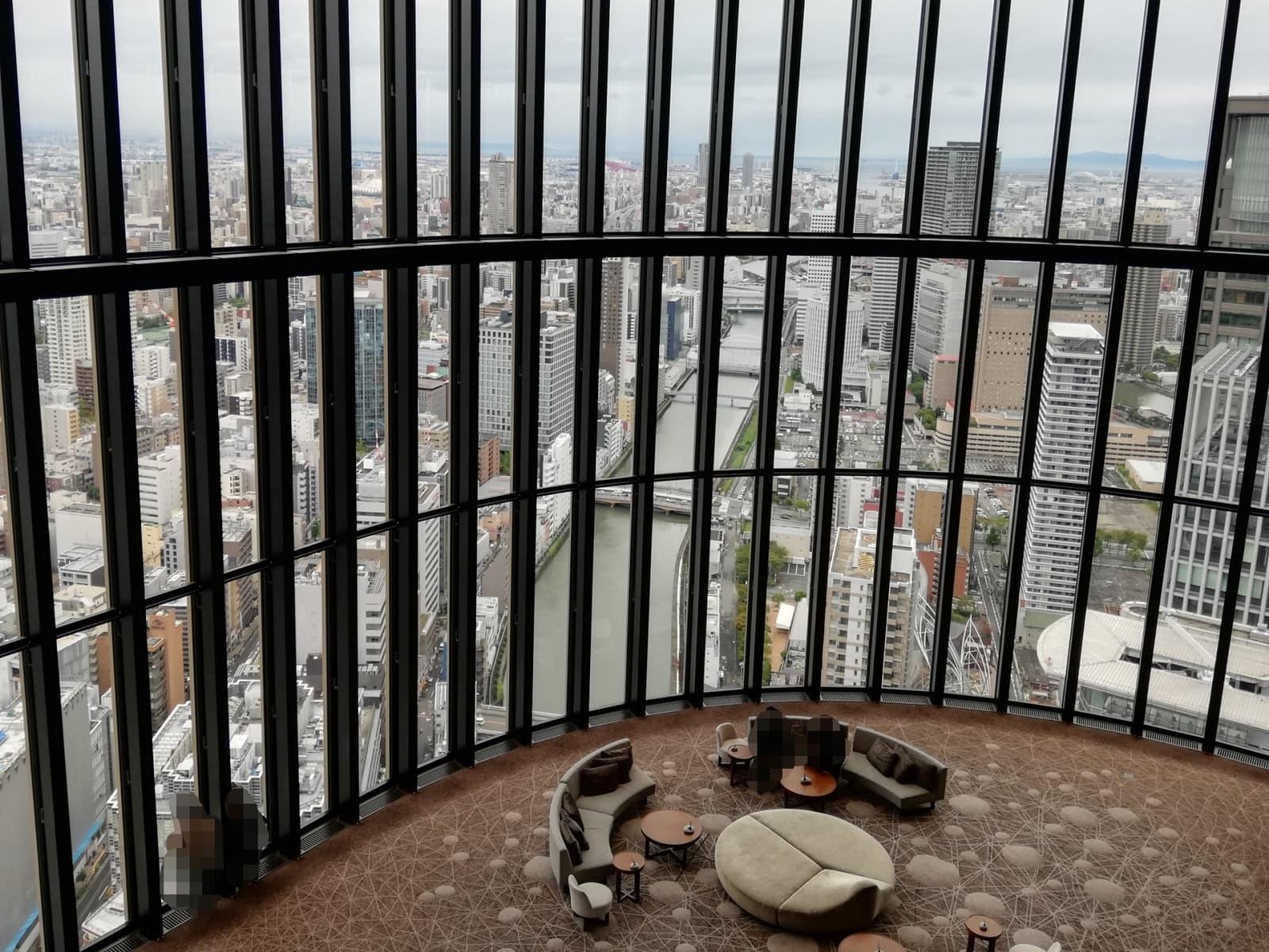 コンラッド大阪40階からの眺め