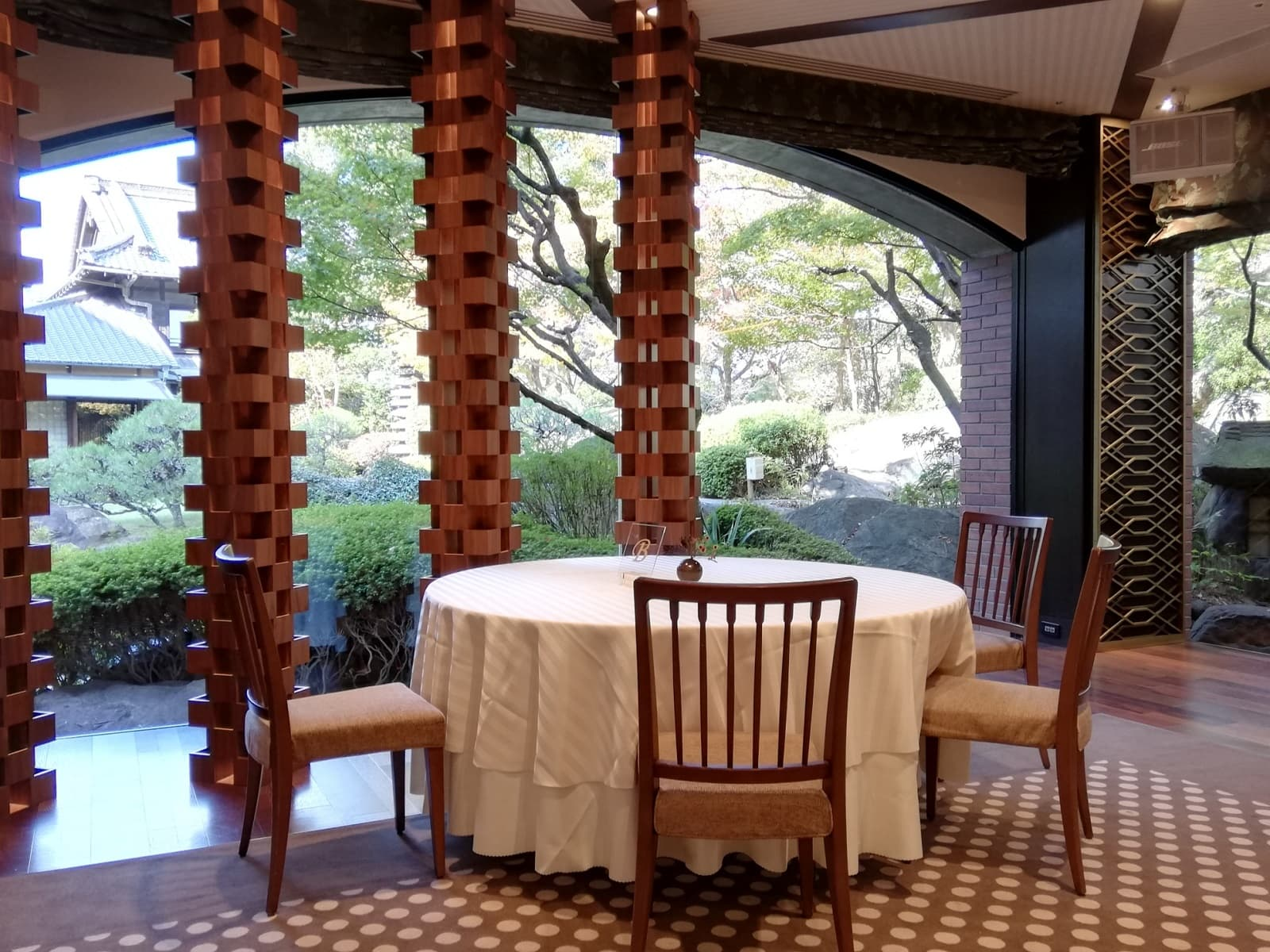2020年太閤園チョコレートビュッフェのテーブルの様子