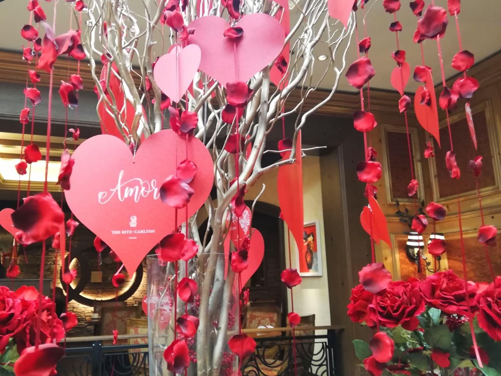 2021年のザ・リッツ・カールトン大阪の店内装飾の様子
