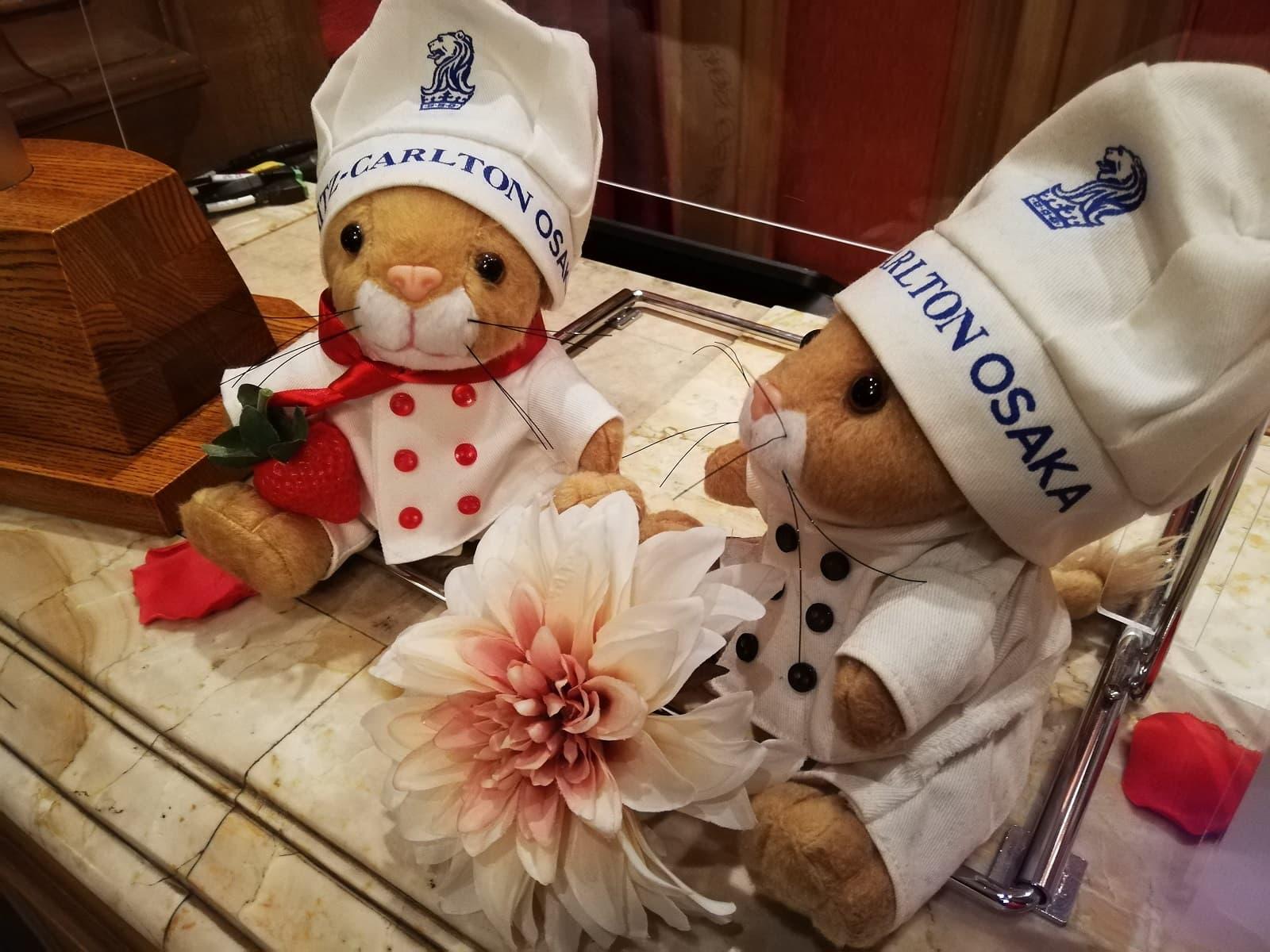ザ・リッツ・カールトン大阪のいちごビュッフェのマスコット
