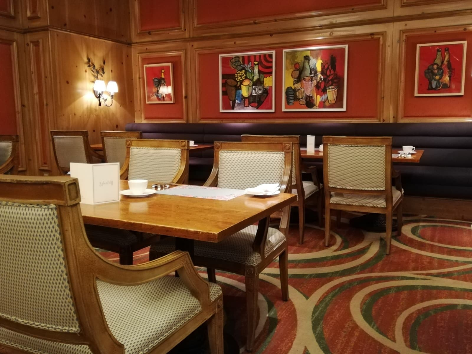 いちごビュッフェのレストラン「スプレンディート」の店内の様子