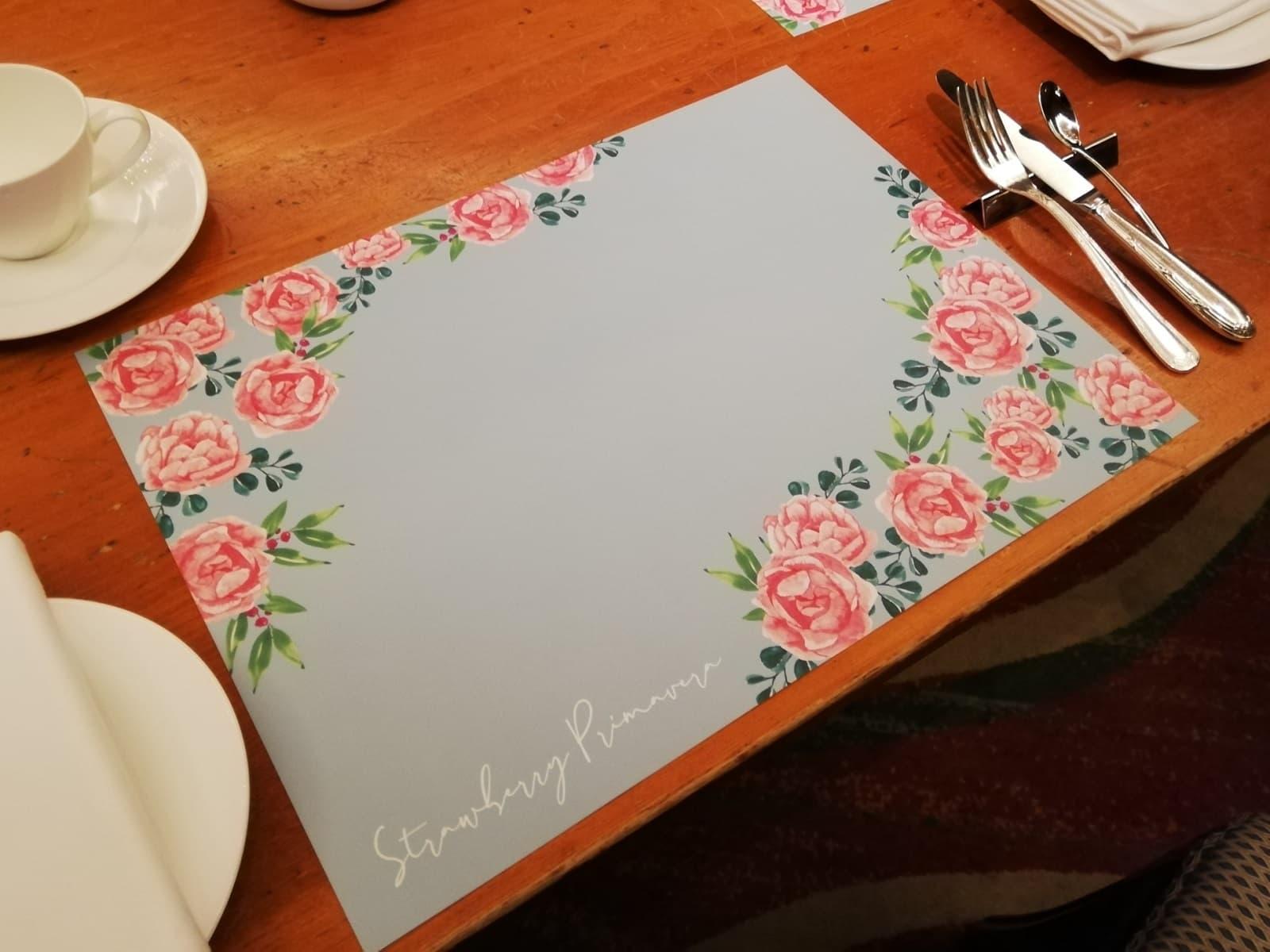 2021年のザ・リッツ・カールトン大阪のいちごビュッフェのテーブルの様子